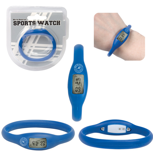 WATER RESISTANT SILICONE SPORTS WATCH